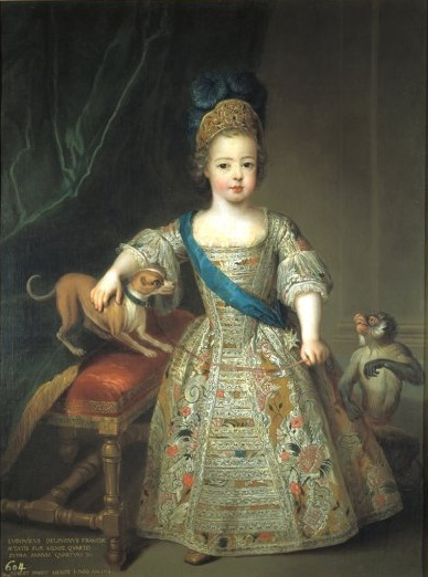 Pierre Gobert, Portrait of Louis XV as a child—in a corset. 1714