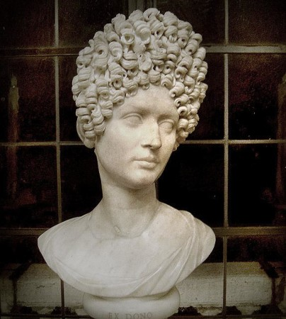 """Flavia statue, which Ms. Stephens describes as a """"mullet from hell"""""""