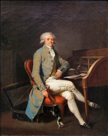 Robespierre at his desk.